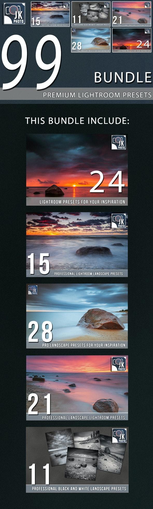 99 Premium LightRoom Presets Bundle - Landscape Lightroom Presets