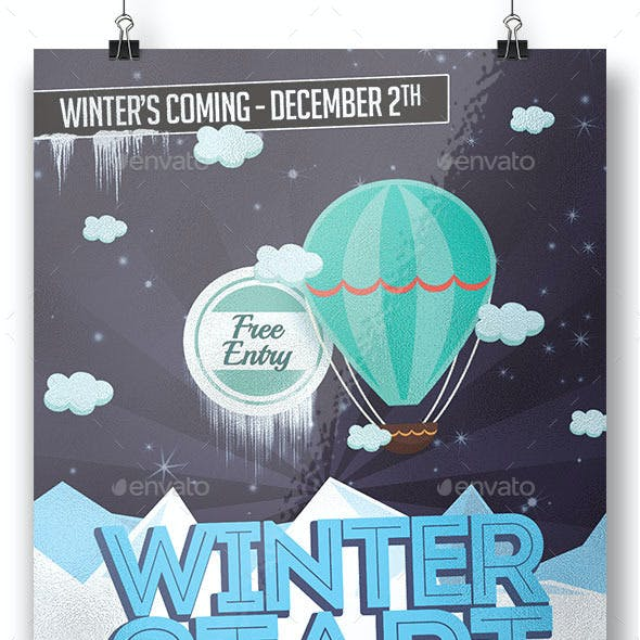 Winter Coming Flyer Template
