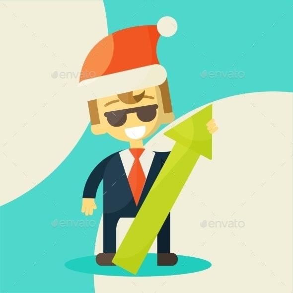 Businessman, Success in Work.  - Business Conceptual