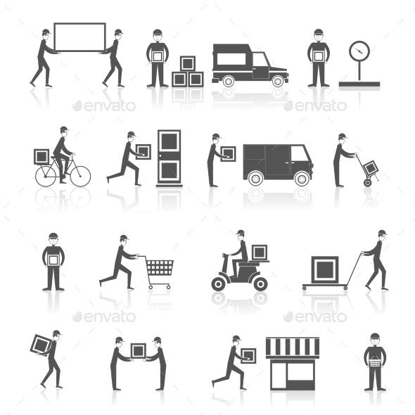 Delivery Icons - Web Elements Vectors
