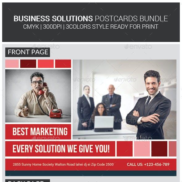 Corporate Business Solution Postcards Bundle