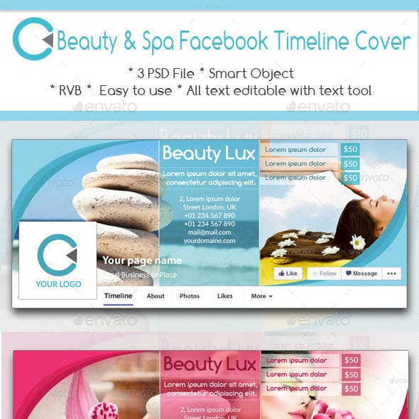 Beauty & Spa Facebook Timeline Cover