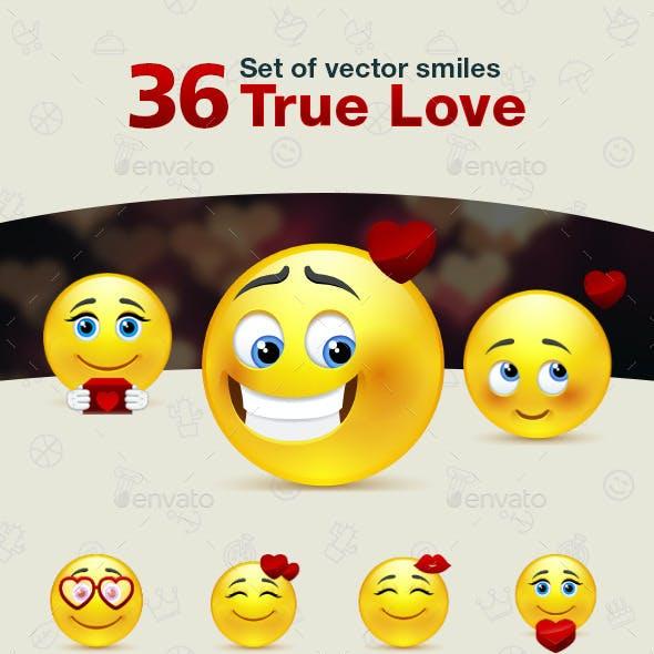 Set of True Love Smiles