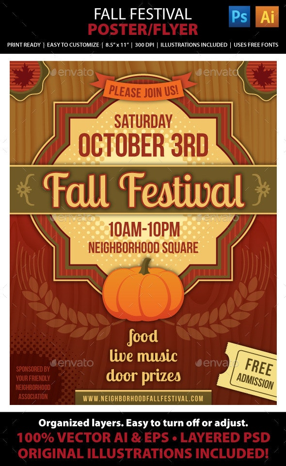 Fall Festival Poster or Flyer - Events Flyers