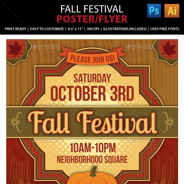 Fall Festival Poster or Flyer