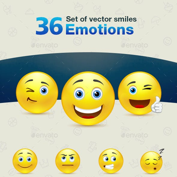 Set of Emotions Smiles