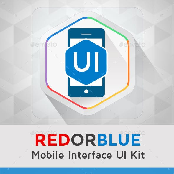 REDORBLUE - Mobile Interface UI Kit