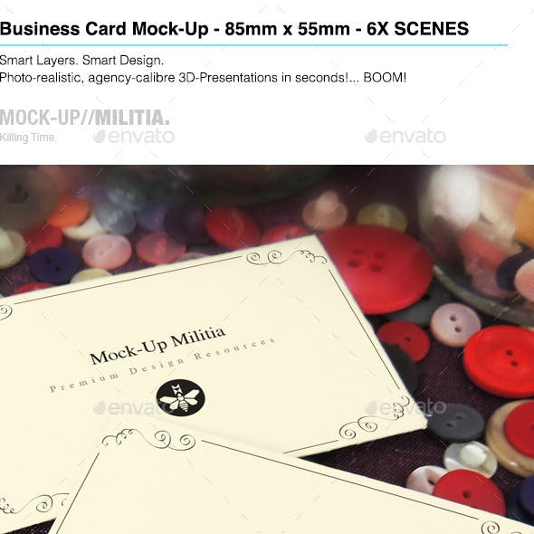 Business Card Mock-Up | Craft | Sewing | Tailor