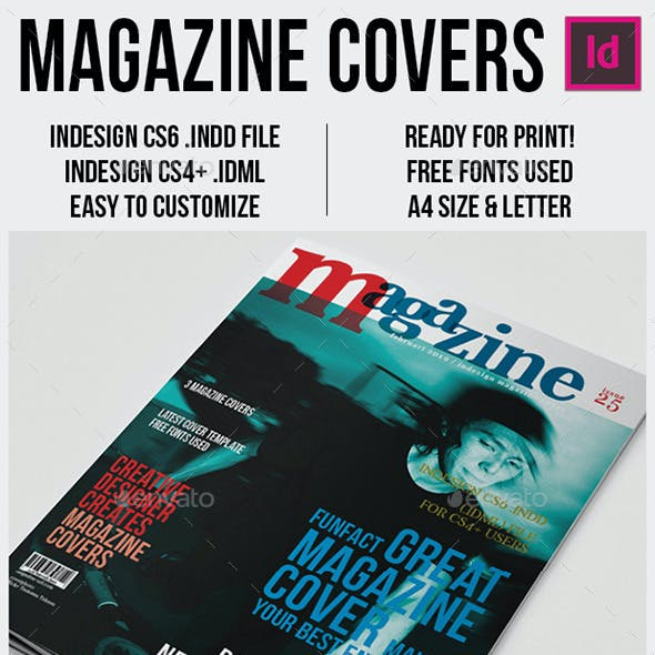 Magazine Covers Template A4