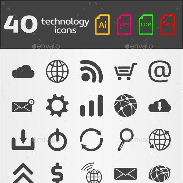 40 Technology Icons