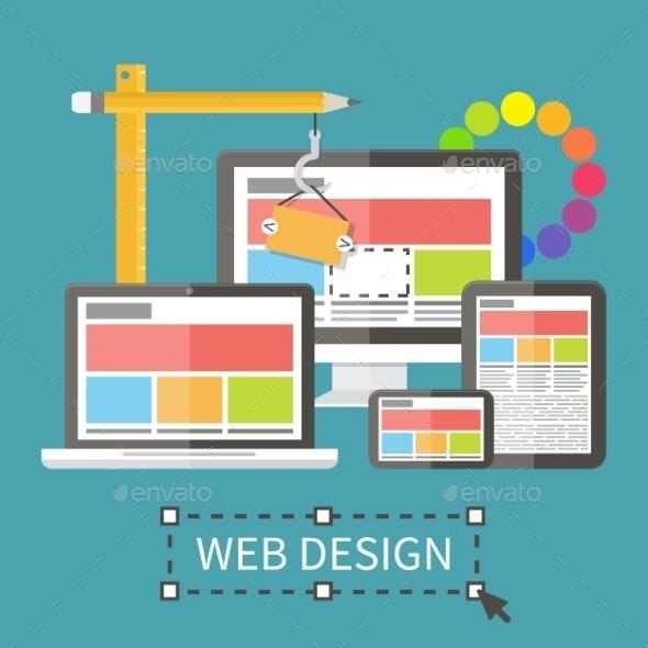 Responsive Web Design Concept - Computers Technology