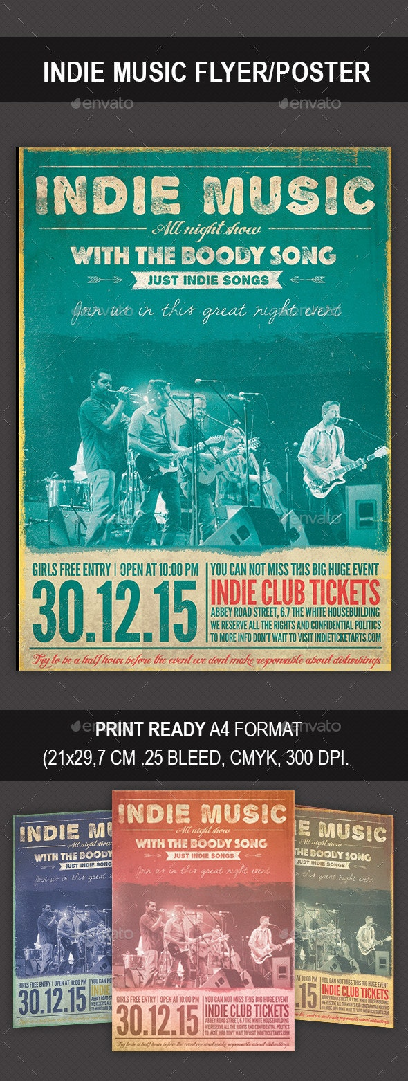 Indie Music Flyer/Poster - Concerts Events