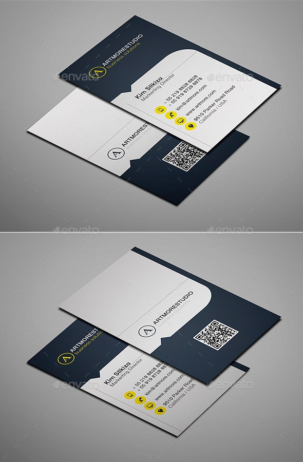 Simple Business Card Vol. XIV - Corporate Business Cards