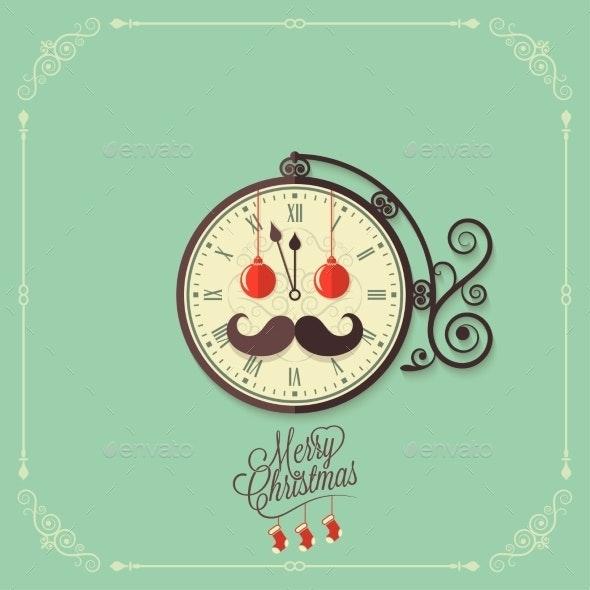 Christmas Vintage Card Background - Christmas Seasons/Holidays