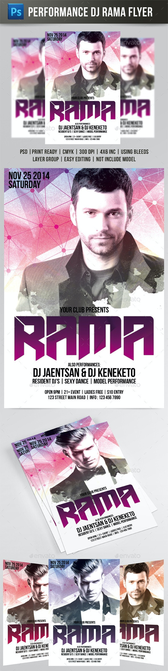 DJ Rama Flyer - Events Flyers