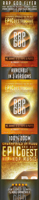 Rap God Flyer - Clubs & Parties Events