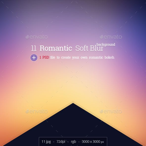 Romantis - 11 Blur Background with 1 PSD for bokeh