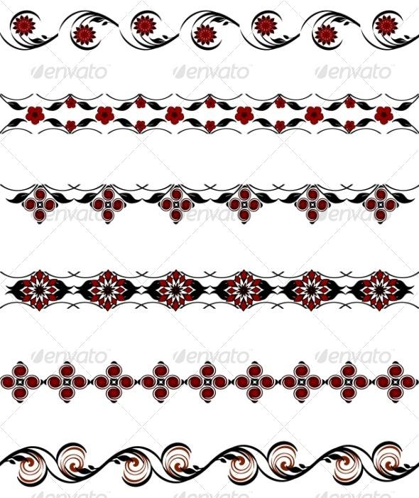Set of borders - Tattoos Vectors