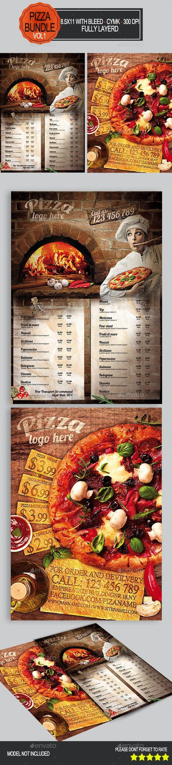 Pizza Flyer Bundle Vol1   - Restaurant Flyers