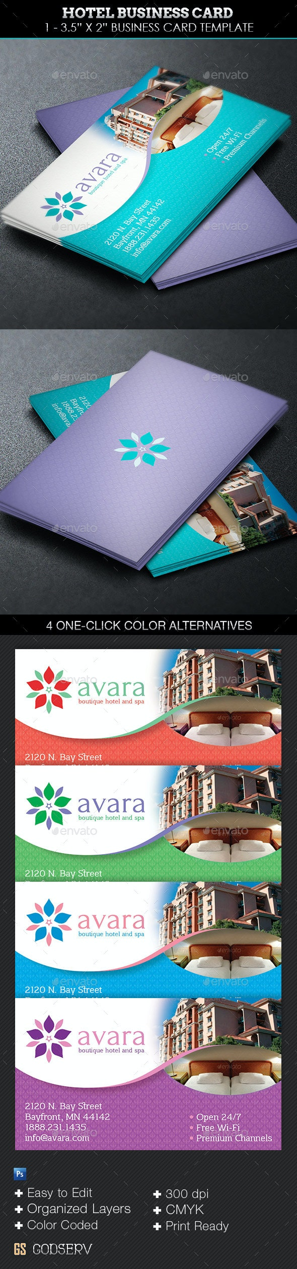 Hotel Business Card Template - Industry Specific Business Cards