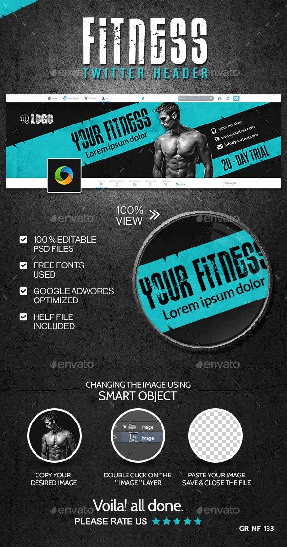 Fitness & Gym Twitter Header - Twitter Social Media