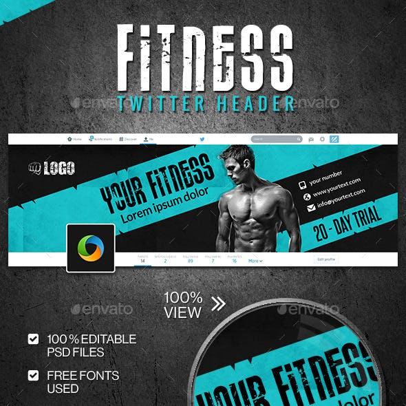 Fitness & Gym Twitter Header