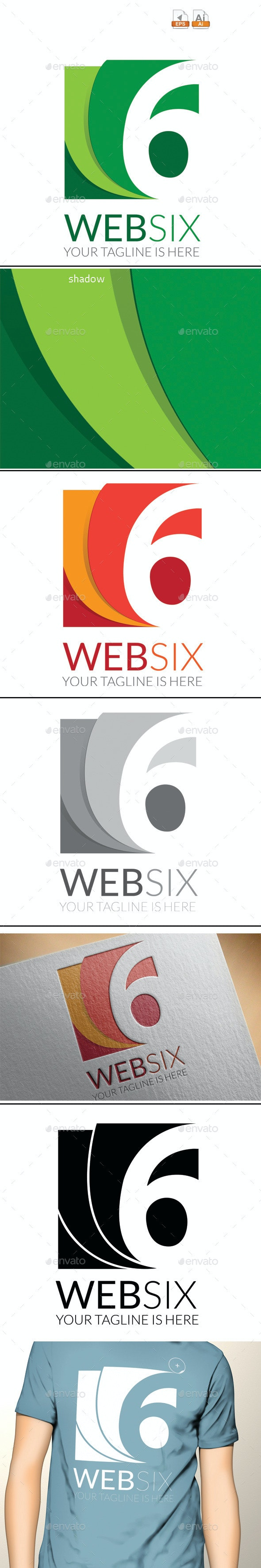 Websix Logo - Numbers Logo Templates