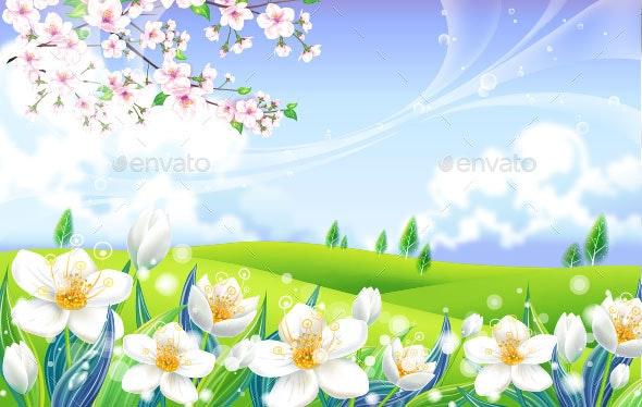 Spring Flower - Backgrounds Decorative