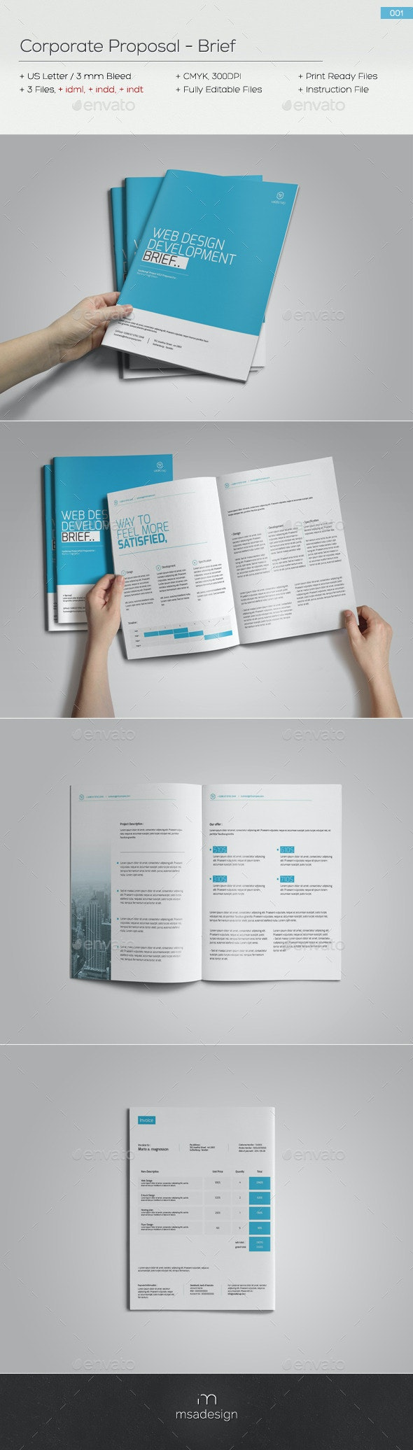 Brief 001 - Proposals & Invoices Stationery