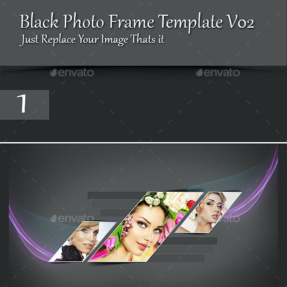 Black Photo Frame Template V02