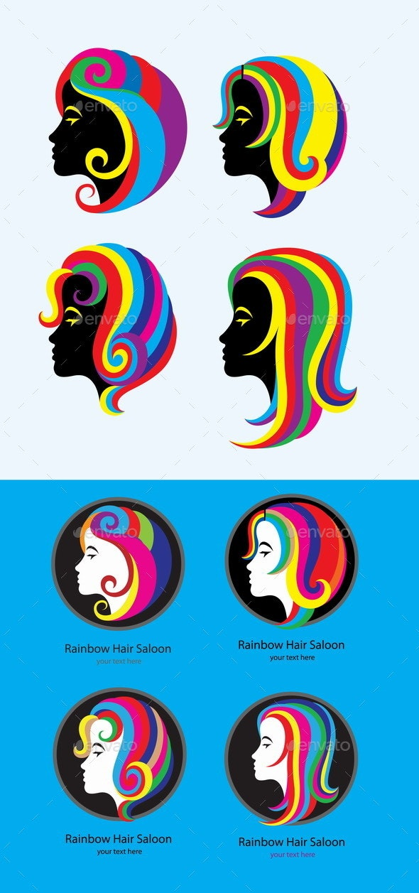 Hair Rainbow Set - People Characters