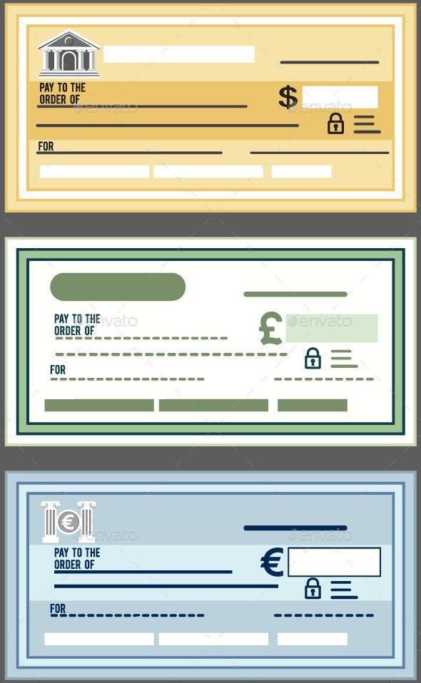 Bank Check  - Business Conceptual