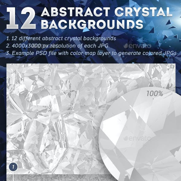 12 Abstract Crystal Backgrounds