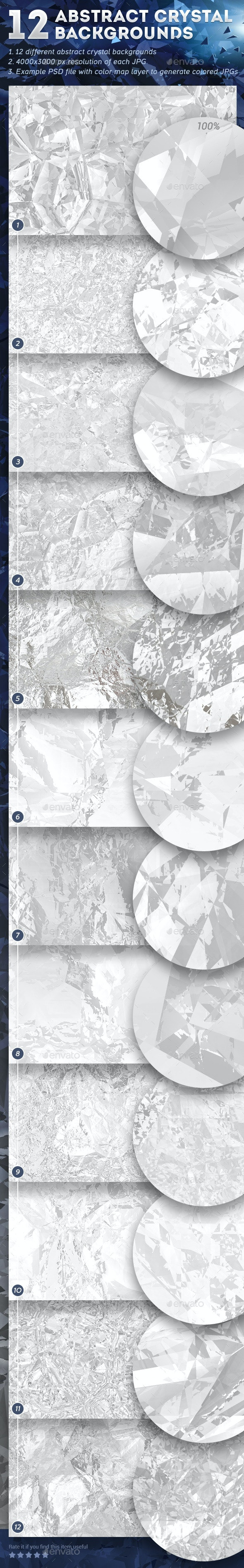 12 Abstract Crystal Backgrounds - Abstract Backgrounds