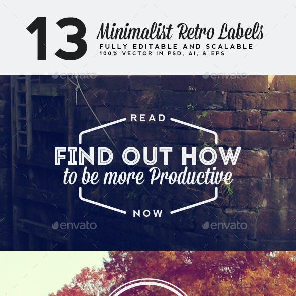 13 Minimalist Retro Labels