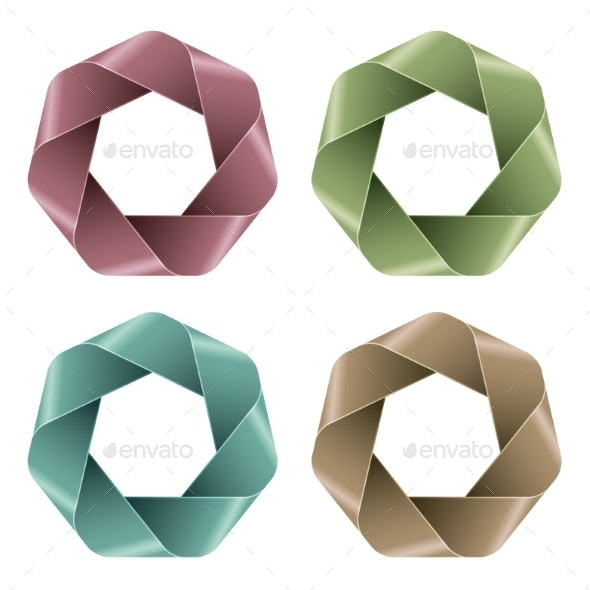 Set of Abstract Polygon Icons. - Miscellaneous Vectors