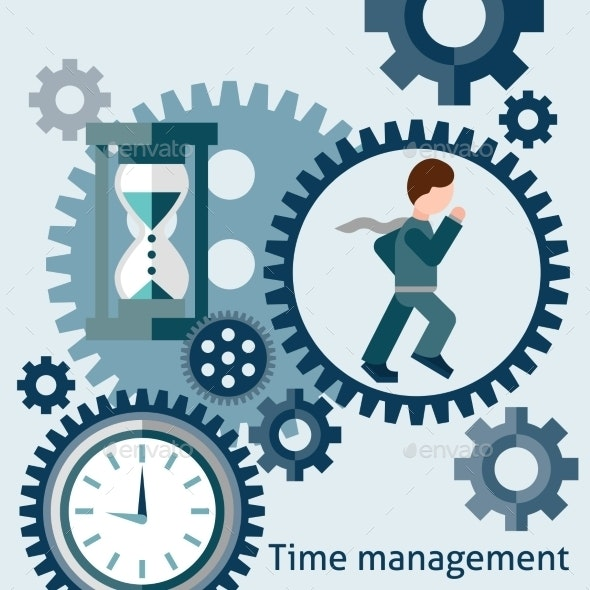 Time Management Concept in Flat Style - Concepts Business