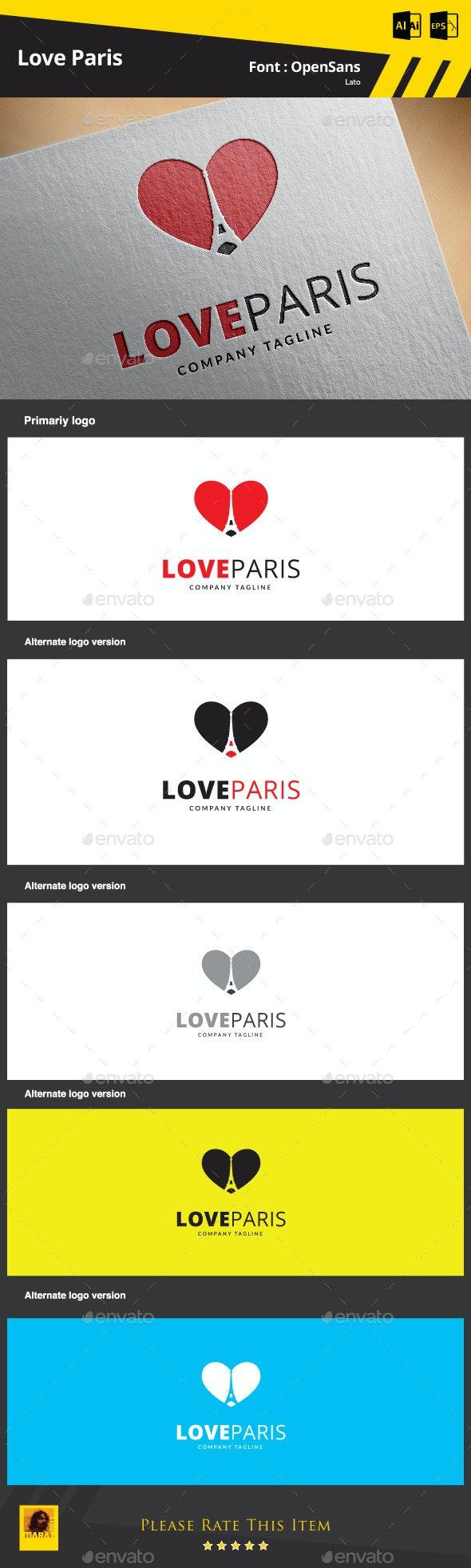Love Paris Logo Template - Symbols Logo Templates