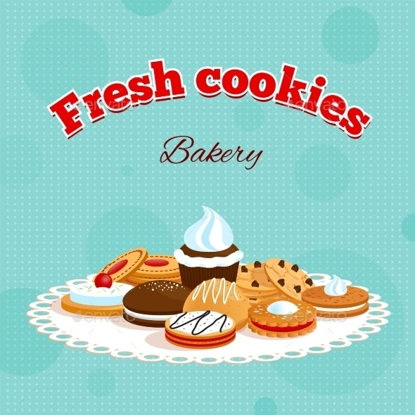 Bakery Retro Poster - Food Objects