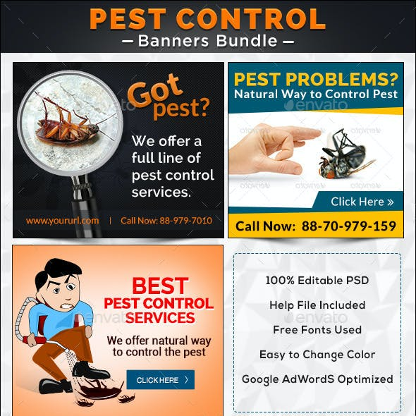 Pest Control Banner Bundle - 3 Sets