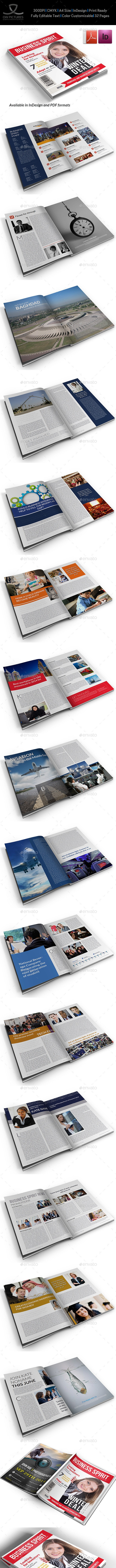 Business Spirit Newsletter Magazine - 32 Pages - Newsletters Print Templates