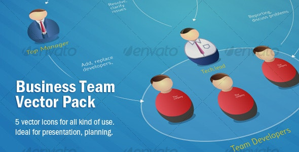 Business Team Vector Pack - People Characters