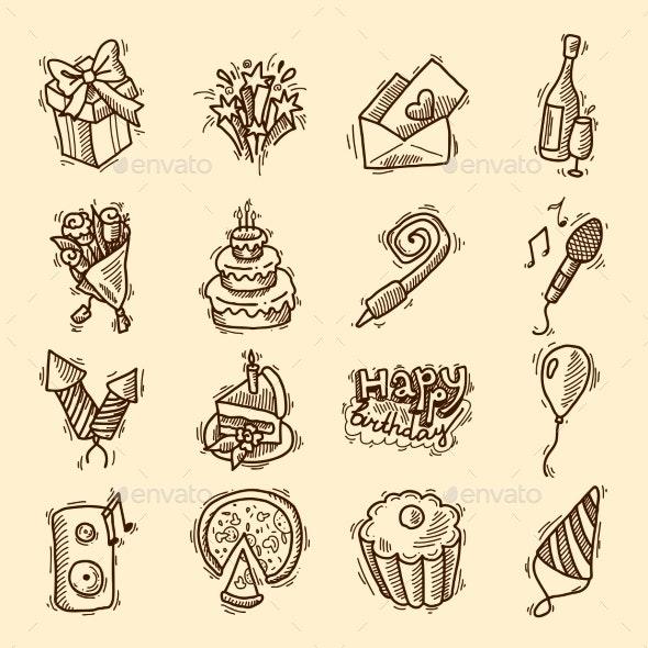 Birthday Icon Set - Birthdays Seasons/Holidays
