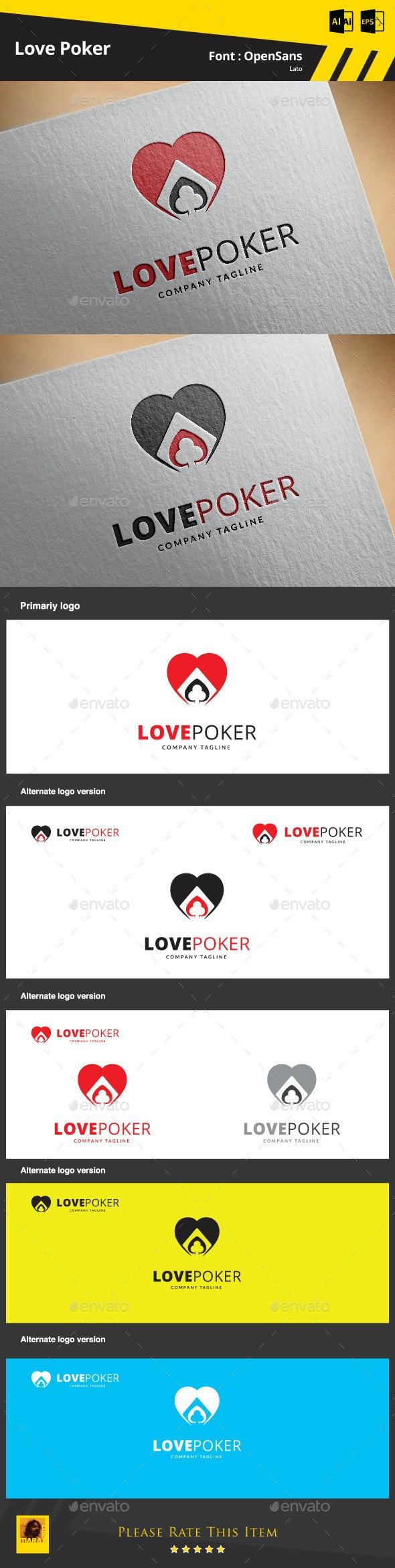 Love Poker Logo Template - Symbols Logo Templates