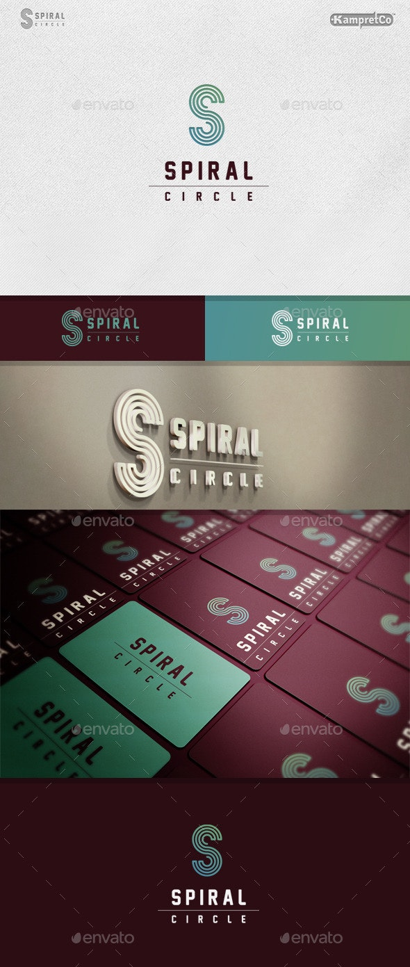 Spiral Cicle Logo - Letters Logo Templates