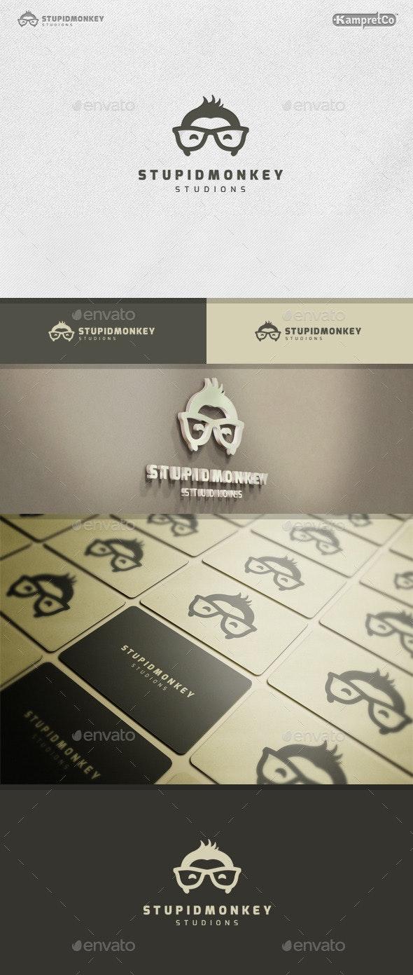 Stupid Monkey Logo - Animals Logo Templates