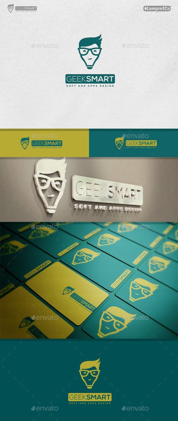 Geek Smart Logo - Vector Abstract