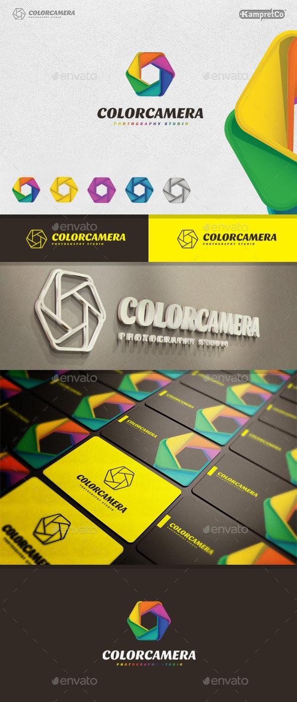 Color Camera Logo - 3d Abstract