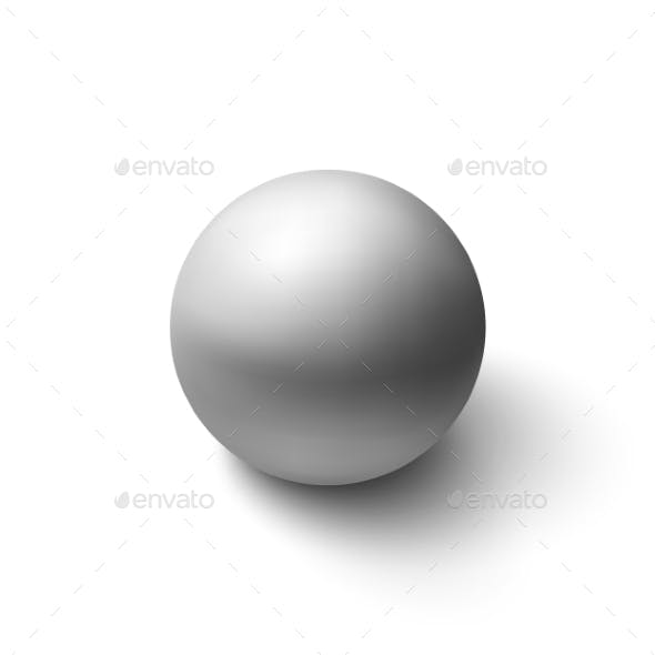 Realistic Grey Sphere