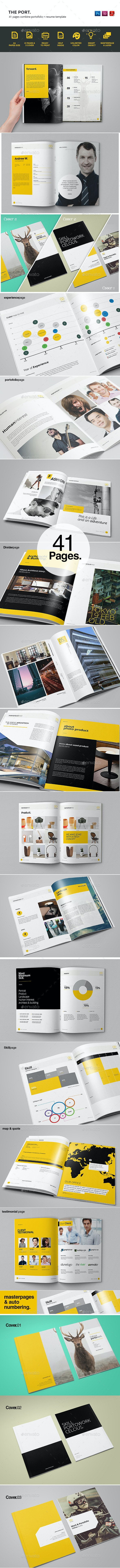 Portofolio Template - Brochures Print Templates